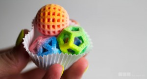 3D Sugar Art made with 3d printer