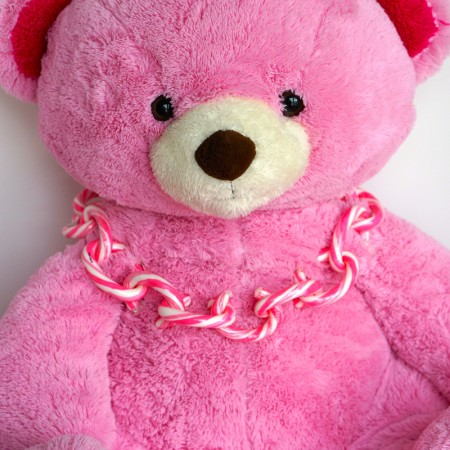Pink Bear With Linky Doodles Necklace