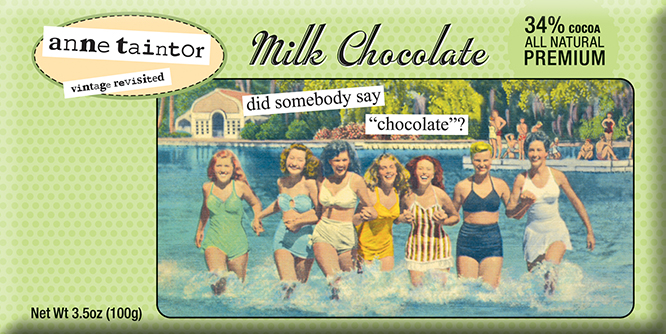 Anne Taintor Designer Milk Chocolate Bar | Sweeterville.com