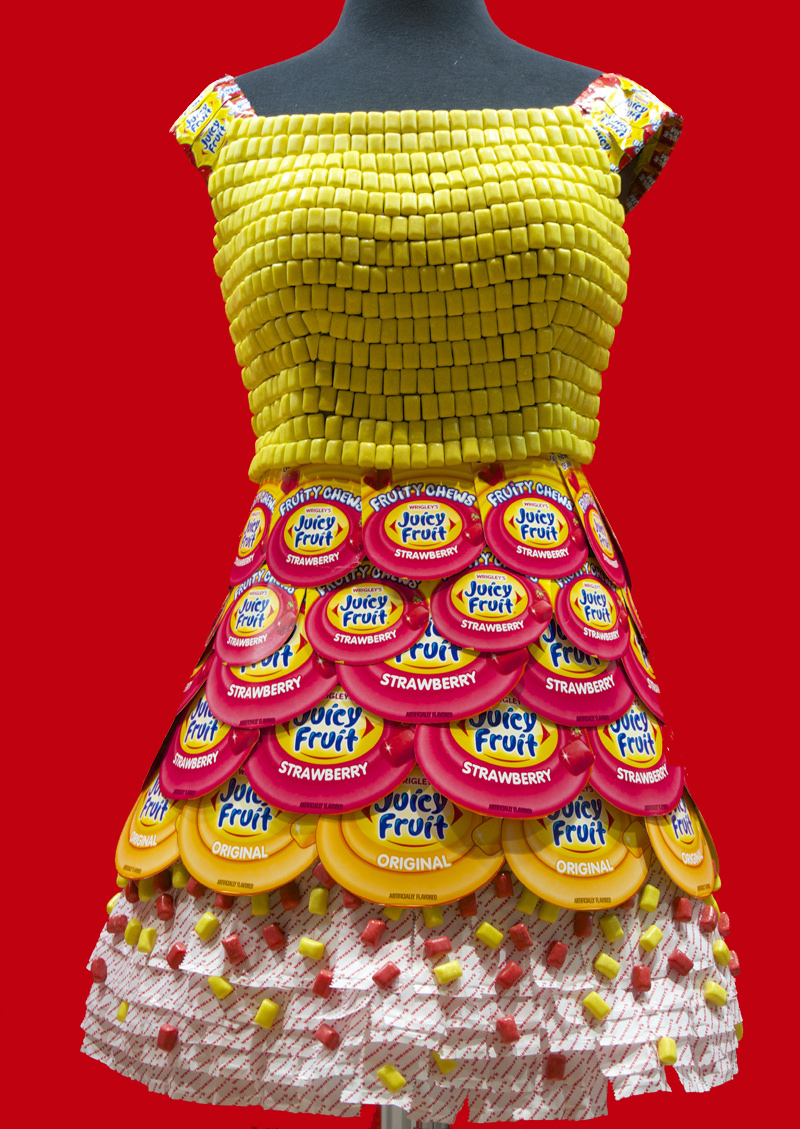 Candy Couture 8 Dresses Made With Candy Wrappers