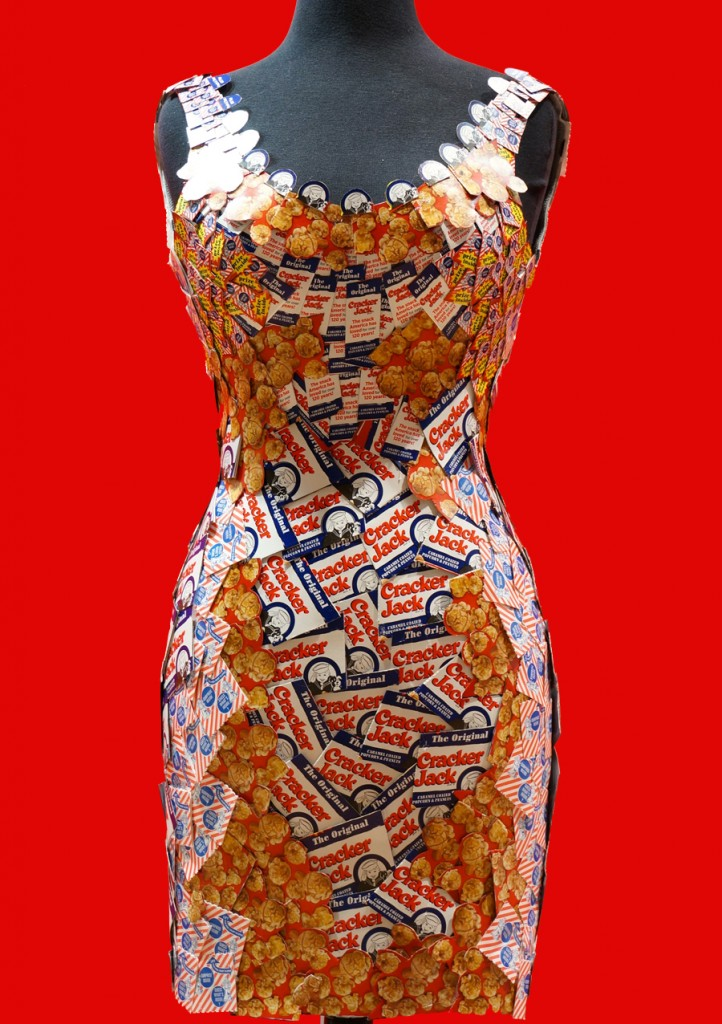 Cracker Jack Candy Wrapper Dress made by Candyality | Sweeterville.com