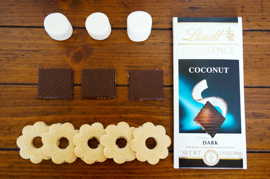 Lindt Coconut Butter Cookie Smore | Sweeterville.com