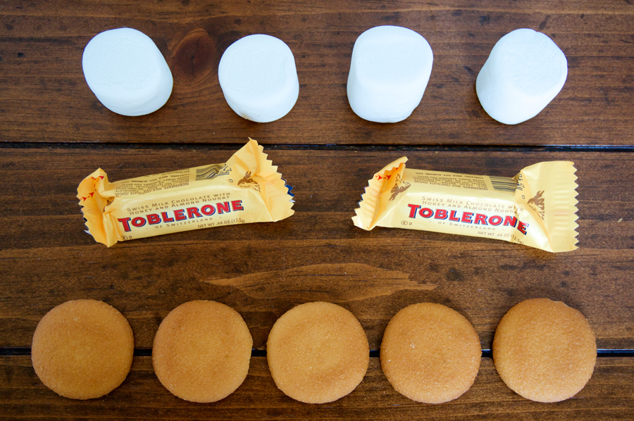 Toblerone Nilla Wafer Smore for Glamping | Sweeterville.com
