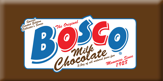 Bosco Milk Chocolate Bar | Sweeterville.com