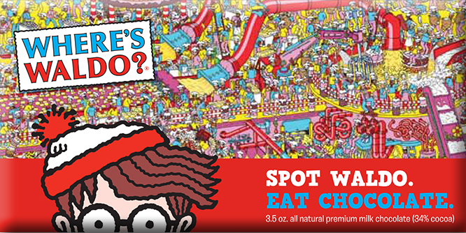 Where's Waldo Chocolate Bar | Sweeterville.com