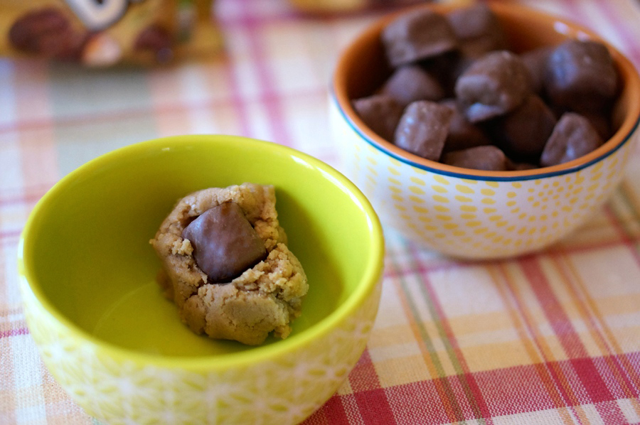 Surprise Inside Cookie Dough with Twix Bites | Sweeterville.com