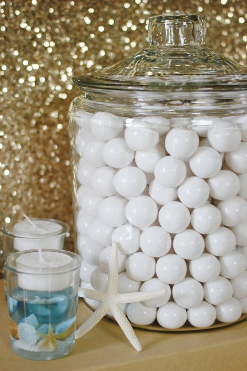 Beach Wedding Gum Balls