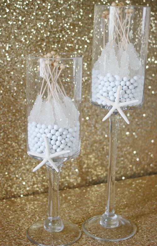 Beach Wedding Rock Candy and Sixlets