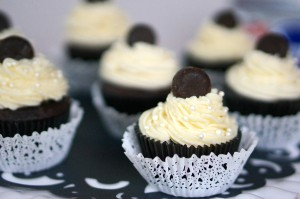 Stanley Cup Cakes topped with Mini York Peppermint Patty Pucks