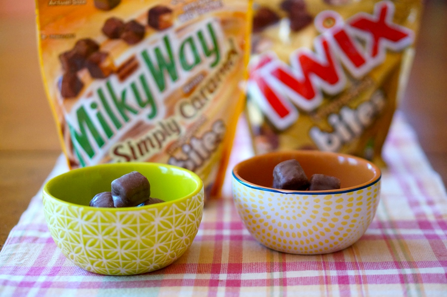 Surprise Inside Cookie Dough with Milky Way and Twix Bites   Sweeterville.com